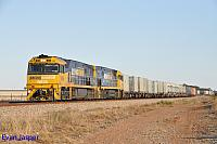 NR26 and NR70 on 7AX7 freighter seen here at Crystal Brook (SA) on the 11th April 2015