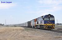 NR27 and DL44 on 4SA8 Indian Pacific seen here heading though Dry Creek on the 14th November 2013