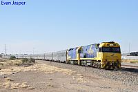 NR27 and G530 on 4SA8 Indian Pacific seen here heading though Dry Creek on the 13th April 2017