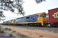 8115 on 7MP5 freighter seen here heading though Port Augusta on the 12th April 2015