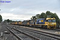 NR49, NR63 and G526 on 2MA5 freighter seen here heading though Dudley Park for Adelaide freight terminal on the 11th April 2017