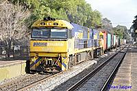 NR51 and NR6 on 4PM6 freighter seen here at Hawthorn (SA) on the 11th April 2015