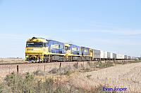 NR54, NR112 and NR24 on 7MP7 freighter seen here at Nantawarra (SA) on the 11th April 2015
