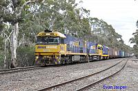 NR68, NR90 and 8114 on 2PM6 freighter seen here powering though Belair (SA) on the 9th April 2015