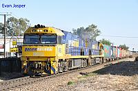 NR82 and NR93 on 7PM5 freighter seen here powering though Unley Park (SA) for Melbourne on the 12th November 2013