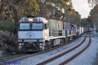 NR84 and NR25 on 3AM5 freighter seen here powering though Glenalta for Melbourne on the 12th November 2013