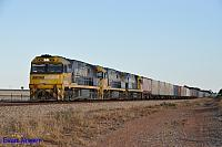 NR99, NR57 and NR61 on 6SP6 freighter seen here at Crystal Brook (SA) on the 11th April 2015