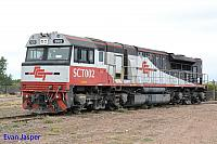 SCT002 sits at the Port Augusta workshops on the 17th April 2015