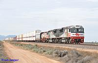 SCT006 and SCT015 on 7GP1 SCT freighter seen here at Stirling North (Port Augusta) on the 12th April 2015