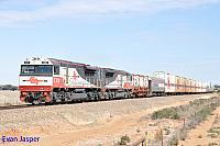 SCT010 and SCT011 on 6MP9 SCT freighter seen here at Natawarra (SA) on the 11th April 2015