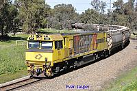 ACN4145 on 3874 Alumina train seen here heading though South Pinjarra on the 27th August 2019