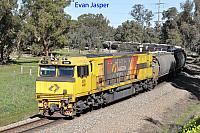 ACN4149 on 4874 Alumina train seen here heading though South Pinjarra on the 17th July 2019