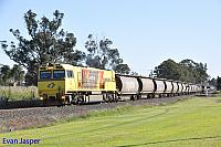 ACN4173 on 3863 Alumina train seen here heading though Yarloop on the 27th August 2019