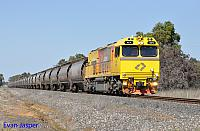 ACN4173 on 7864 Alumina train seen here heading though Wokalup on the 20th August 2014