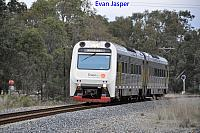 ADP101/ADP103 on 5510 Transwa Australind service seen here heading though Pinjarra for Perth on the 20th June 2019