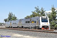 ADP101/ADQ121/ADP102 on 5503 empty Transwa Australind service seen here departing Picton Depot for Bunbury Terminal on the 3rd March 2016