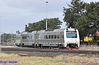 ADP101/ADQ121/ADP103 on 1503 Transwa empty Australind service seen here departing Picton Yard for Bunbury station on the 29th December 2019