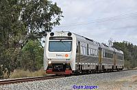 ADP101/ADQ121/ADP103 on 7209 Transwa Australind service seen here heading though Pinjarra on the 7th December 2019