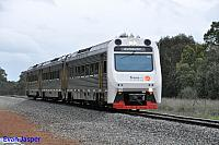 ADP101/ADQ122/ADP102 on 7510 Australind service is seen here powering though North Pinjarra on the 30th August 2014
