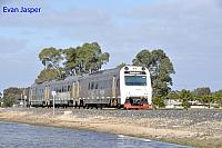 ADP102/ADQ122/ADP101 on 7503 Transwa empty Australind service seen here arriving into Bunbury Passenger Terminal on the 1st August 2015