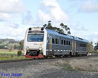 ADP103/ADP101 on 1510 Transwa Australind service seen here heading though Brunswick Junction North for Perth on the 16th June 2019