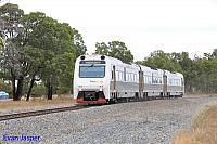 ADP103/ADQ121/ADP101 on 7510 Australind service seen here heading though North Dandalup on the 31st January 2015