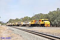 DBZ2309 on 2903 caustic train seen here departing Alumina Junction (Near Pinjarra) for Bunbury on the 14th March 2016