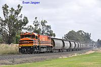 DBZ2310 on 1863 Alumina train seen here heading though Yarloop on the 29th December 2019