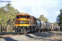 DBZ2310 on 1876 Alumina train seen here heading though Cookernup for Calcine Pinjarra on the 16th June 2019
