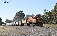 DBZ2310 on 4253 empty coal train seen here heading though Keysbrook on the 17th July 2019