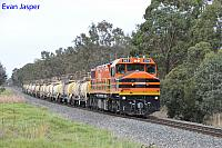 DBZ2310 on 5902 Caustic train seen here heading though Hamel for Calcine Pinjarra on the 6th June 2019