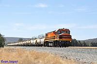 DBZ2310 on 2237 Caustic train seen here powering though North Dandalup on the 14th March 2016