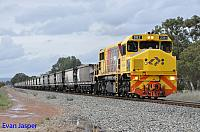 DBZ2311 on 7253 empty coal train seen here powering though North Pinjarra on the 30th August 2014