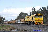 S3310 on 7936 loaded export bauxite train seen here heading though Alumina Junction for Kwinana on the 13th June 2020