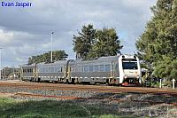 ADP101/ADQ121/ADP102 on 7503 Australind service is seen here departing Picton Yard for Bunbury Station on the 13th June 2020