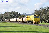 S3305 on 7271 loaded lime train is seen here powering though Harvey for Collie on the 13th June 2020