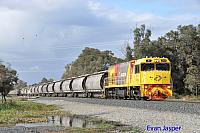 P2513 on 7873 Alumina train seen here rolling though Alumina Junction for Bunbury on the 27th June 2020