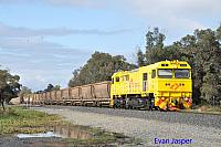 S3305 on 7968 loaded bauxite service seen here rolling though Alumina Junction for Kwinana on the 27th June 2020
