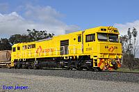 S3305 in the new Aurizon budget livery on 7968 loaded bauxite service seen here rolling though Alumina Junction for Kwinana on the 27th June 2020