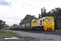 S3310 on 7936 loaded export bauxite train seen here heading though Alumina Junction for Kwinana on the 27th June 2020