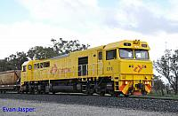 S3310 in the new Aurizon budget livery on 7936 loaded export bauxite train seen here heading though Alumina Junction for Kwinana on the 27th June 2020