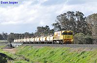 P2512 on 7854 Caustic service is seen here crossing the Collie River near Burekup heading for Bunbury Harbour on the 27th June 2020