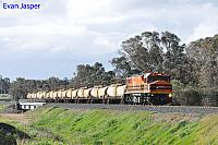 DBZ2310 on 7903 Caustic service is seen here crossing the Collie River near Burekup heading for Bunbury Harbour on the 27th June 2020