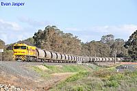 P2510 on 7866 Alumina service is seen here crossing the Collie River near Burekup on the 27th June 2020