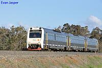ADP101/ADQ121/ADP103 on 7510 Australind service is seen here crossing the Collie River near Burekup heading for Perth on the 27th June 2020