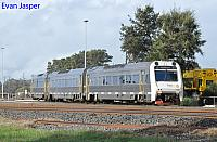 ADP103/ADQ121/ADP101 on 1503 empty Transwa Australind service seen here departing Picton Yard for Bunbury station on the 28th June 2020