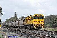 P2511 on 2874 Alumina service is seen here powering though Waroona for Calcine Pinjarra on the 29th June 2020