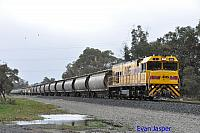 P2510 on 2873 Alumina service seen here heading though Alumina Junction for Bunbury on the 29th June 2020