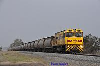P2511 on 2874 Alumina service is seen here powering though Pinjarra South for Calcine Pinjarra on the 29th June 2020