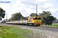 P2507 on 2821 Caustic train seen here on the approach to Picton Yard on the 30th September 2019